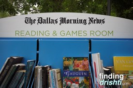 Lots of books and board games for families to enjoy