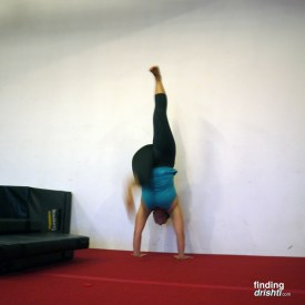Attempts at handstand