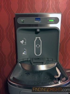 Filtered water filling station