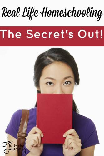 Real Life Homeschooling~The Secret's Out! Real life homeschooling, from a real life homeschool mom! Because sometimes I just need to let the secret out.