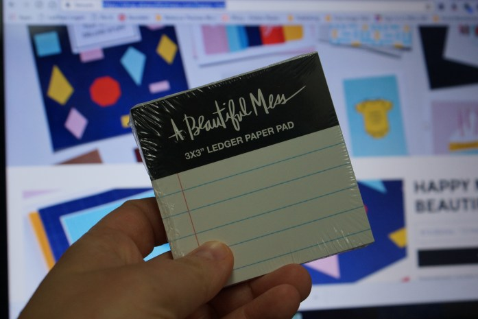 Check out this little notepad from A Beautiful Mess. I love the stuff that they offer and I got all of this for under $10.