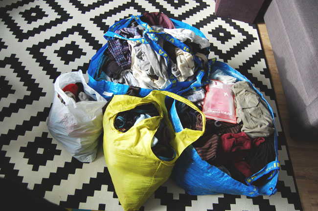 KonMari clothes to donate