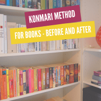 KonMari method for books - before and after