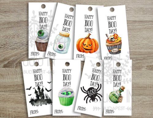 Halloween tags by studioinbudapest