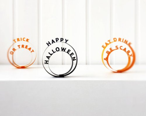 Halloween decorations by sweetkeetlecards