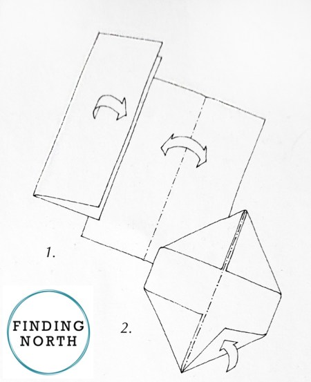 Instructions for folding a snow crystal