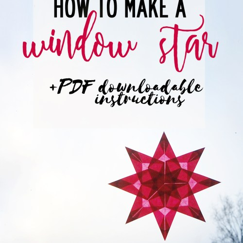 How to make a Christmas window star