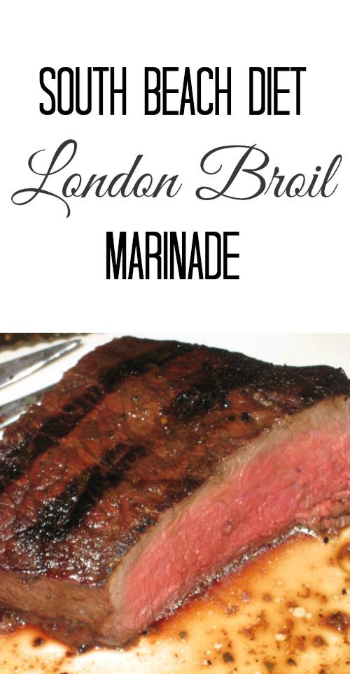 Healthy London broil marinade. South Beach Diet recipe. Delicious, easy & healthy
