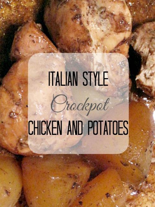 italian crockpot chicken and potatoes