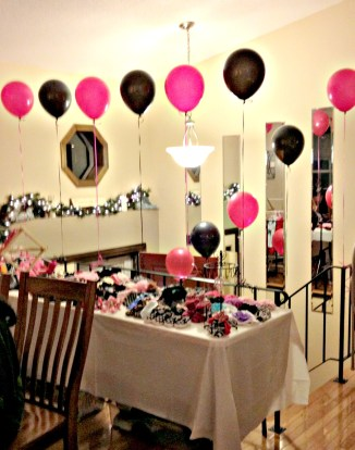 hot pink and zebra baby shower decorations