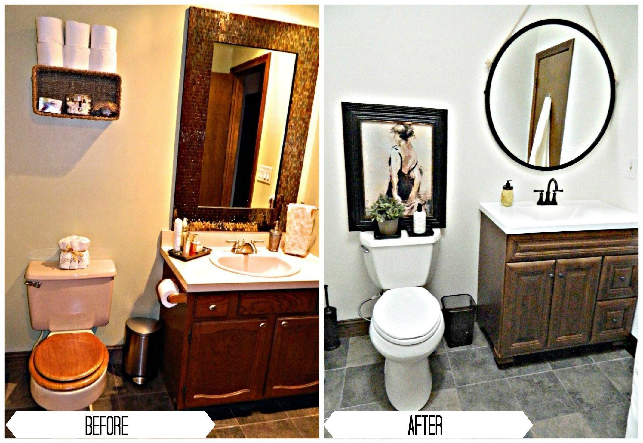 Bathroom Renovation Ideas Before And After bathroom renovation under $1,000 | finding silver linings