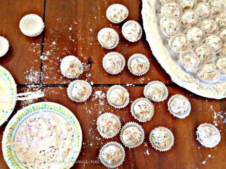 Funfetti cake truffles!!!