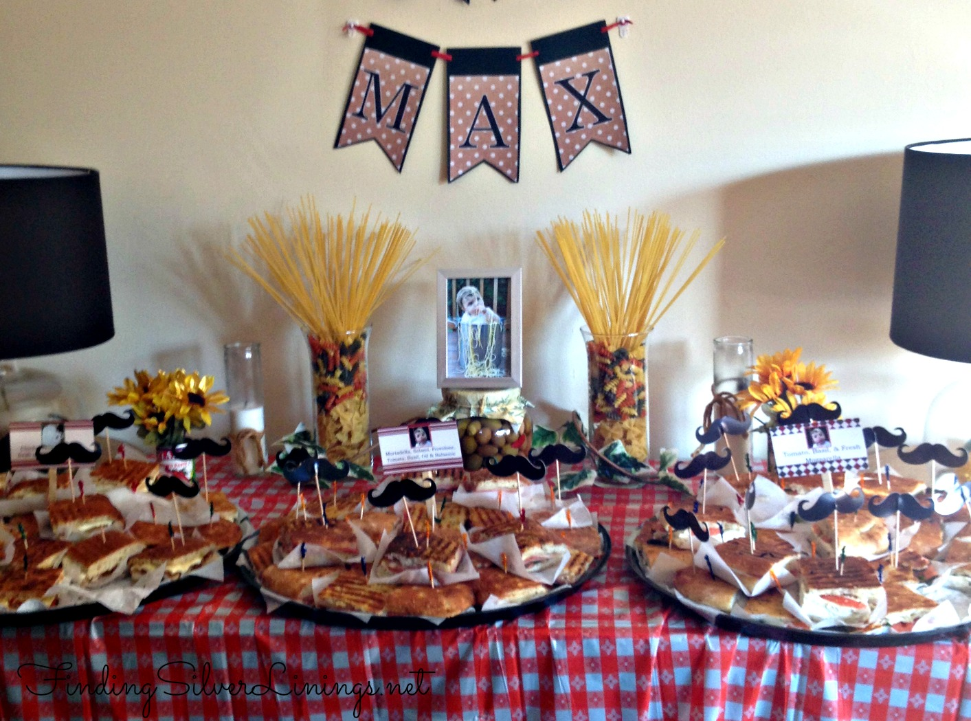 Max 39 s italian themed birthday party finding silver linings - Party decorations ideas ...