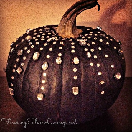 Rhinestone pumpkin...fabulousness from FindingSilverLinings.net