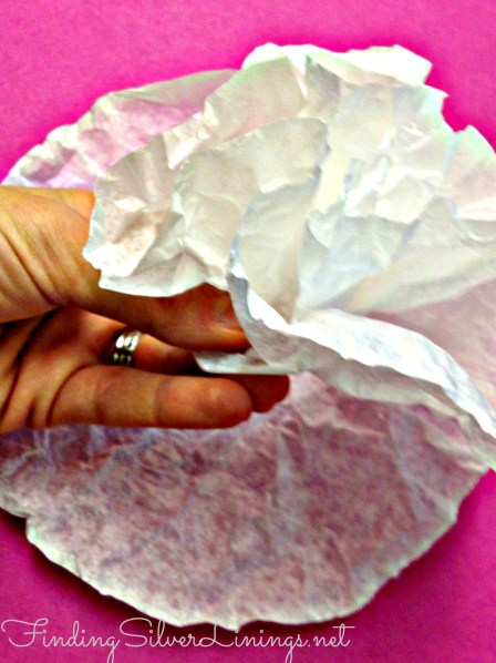 make fake peonies from coffee filters.  Amazing