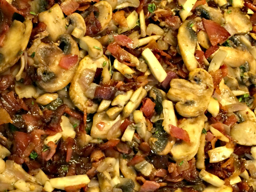 Mushrooms and pancetta
