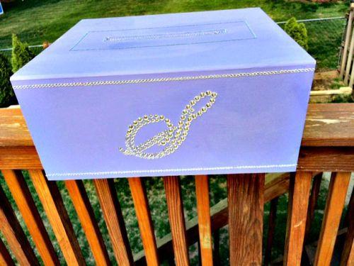 DIY Monogram Wedding Card Box