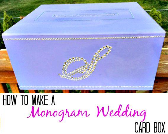 How to make a monogram card box