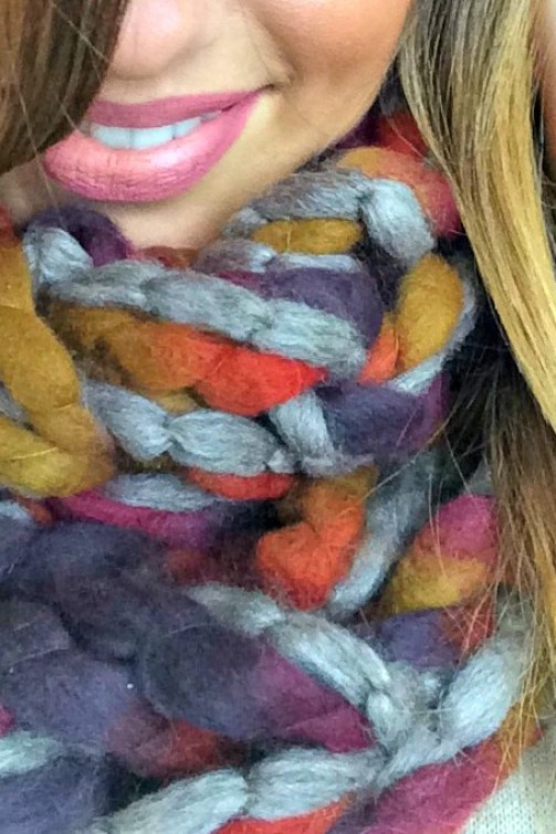 arm knit infinity scarf instructions