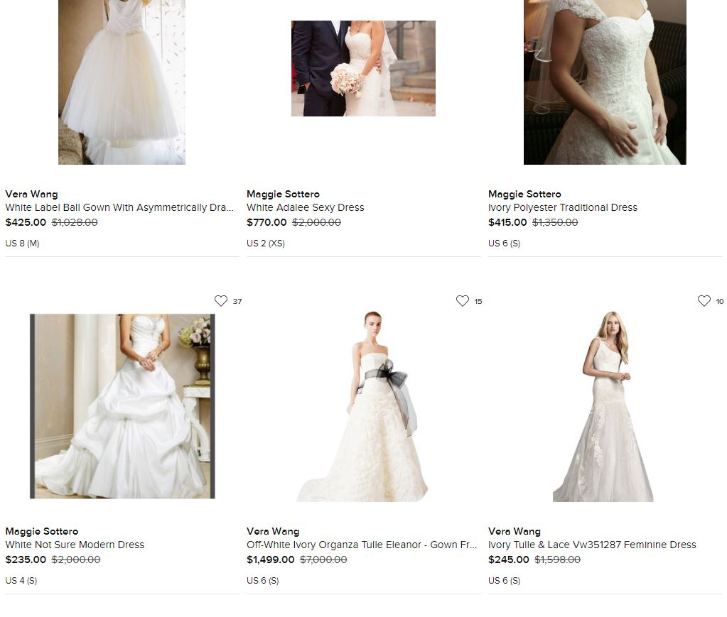 tradesy even sells bridal gowns!