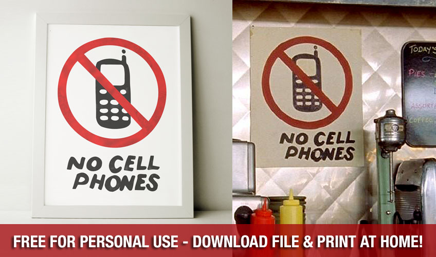 picture about No Cellphone Sign Printable identify Notice Gilmore Women Supporters: Deliver Your Kitchen area Appearance Such as