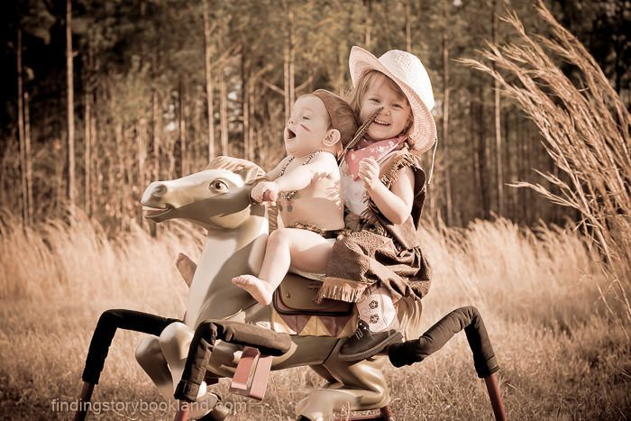 Cowgirl and indian photo shoot