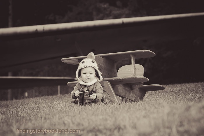 WWII Pilot Themed Children's Photo Shoot