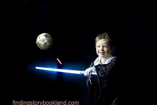 Finding Storybookland Star Wars photo shoot