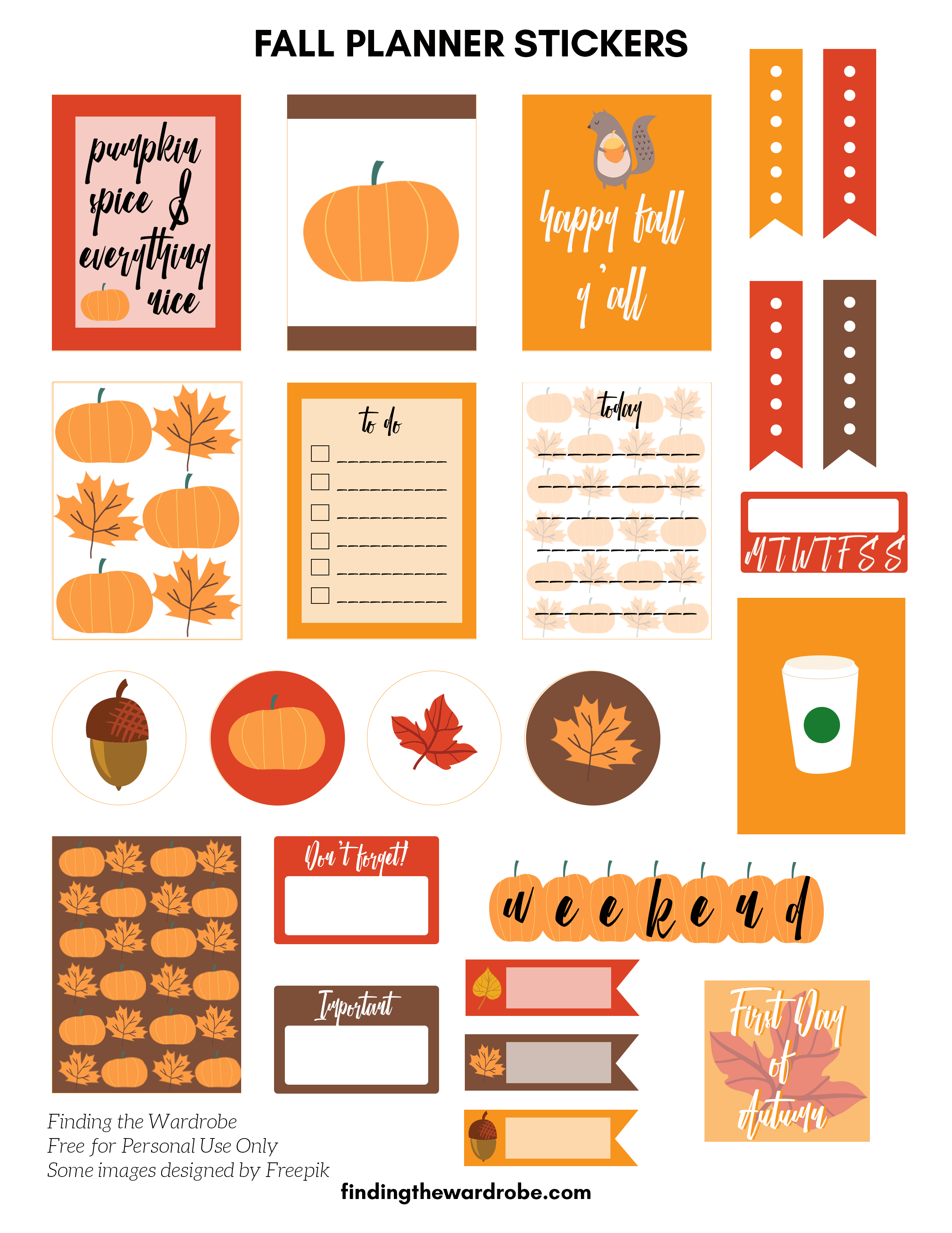 photograph about Free Printable Stickers known as Absolutely free Printable - Slide Planner Stickers - Getting the Wardrobe