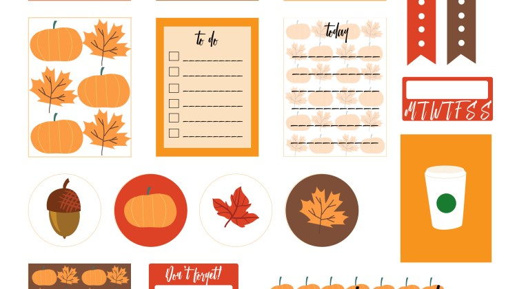Free Printable – Fall Planner Stickers