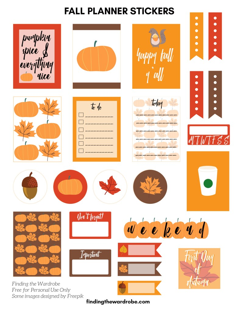 free printable fall planner stickers finding the wardrobe
