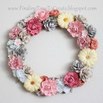 Floral Wreath with Paper Flowers