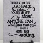 Fabric-Wrapped Canvas with Heat Transfer Quote