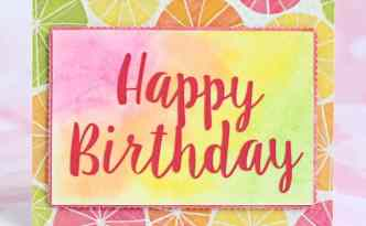 Happy Birthday Watercolor Card