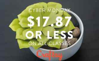 Craftsy Cyber Monday Sale