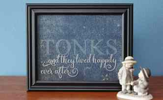 Etched Glass Wedding Frame Tutorial by Kelly Wayment