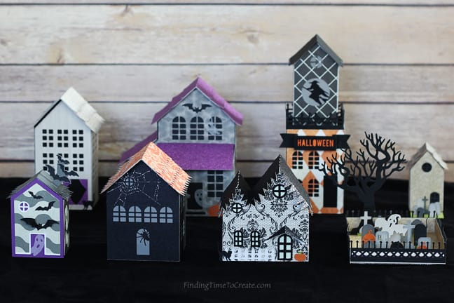 Halloween Village - Finding Time To Create guest post on Carina Gardner's blog