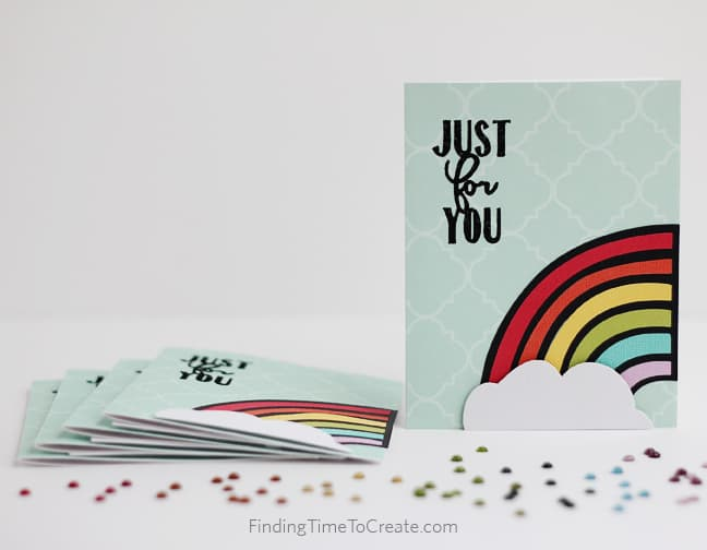 Just For You Rainbow Cards - Finding Time To Create