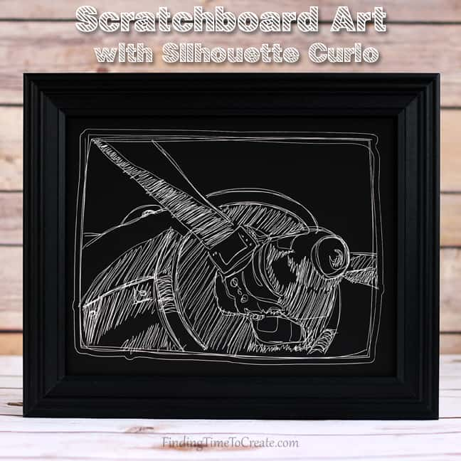 Scratchboard Airplane Curio Art | FInding Time To Create