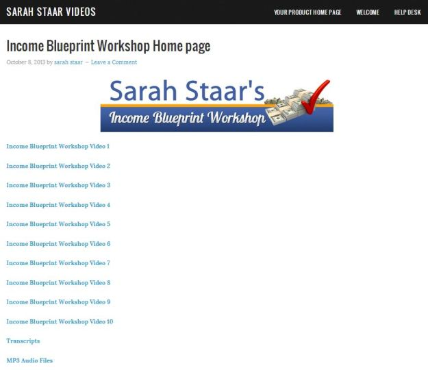 Sarah staars income blueprint workshop product description sarah staars income blueprint workshop malvernweather Choice Image