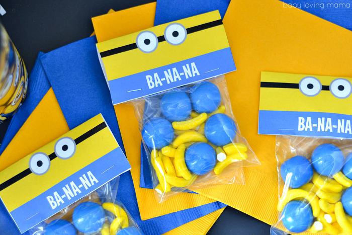 Minions Free Treat Printable Diy Snack Bag