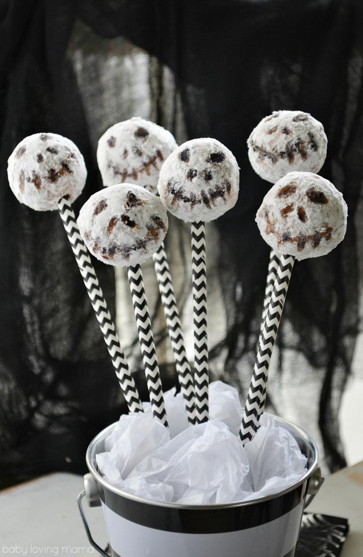 Jack Skellington Donut Pops