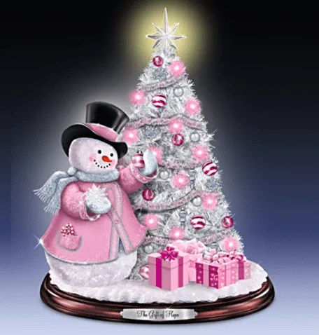 Pink Tabletop Christmas Tree FINDinista