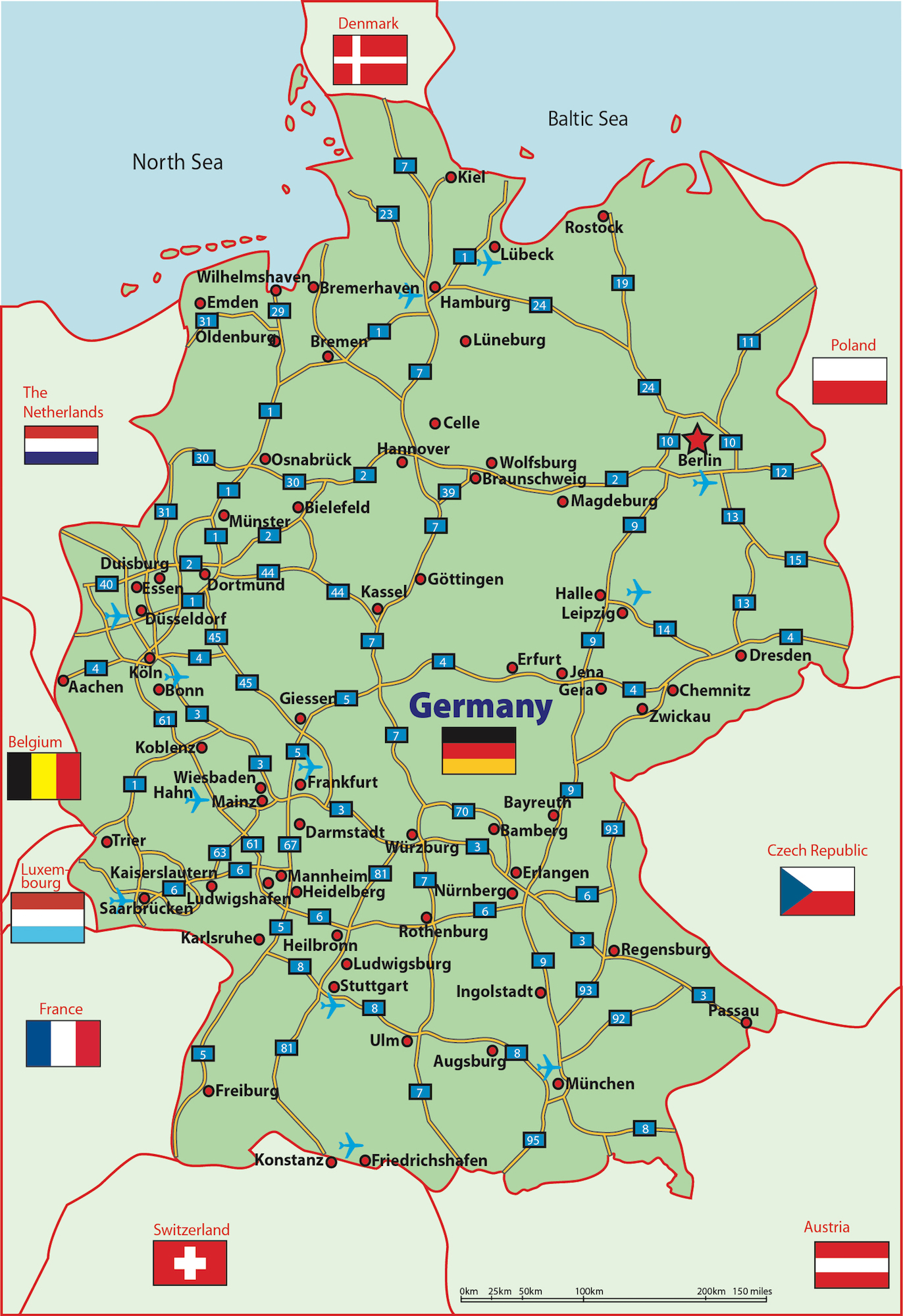 Map Of Germany Ramstein.Ramstein Germany Airport Map
