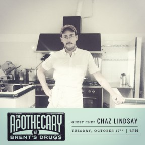 Guest Chef Dinner with Chaz Lindsay