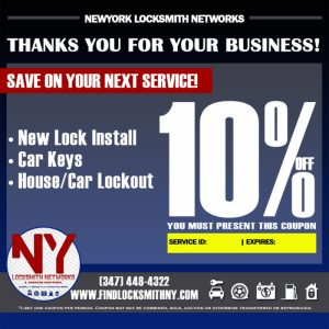 Save on your next Locksmith services.