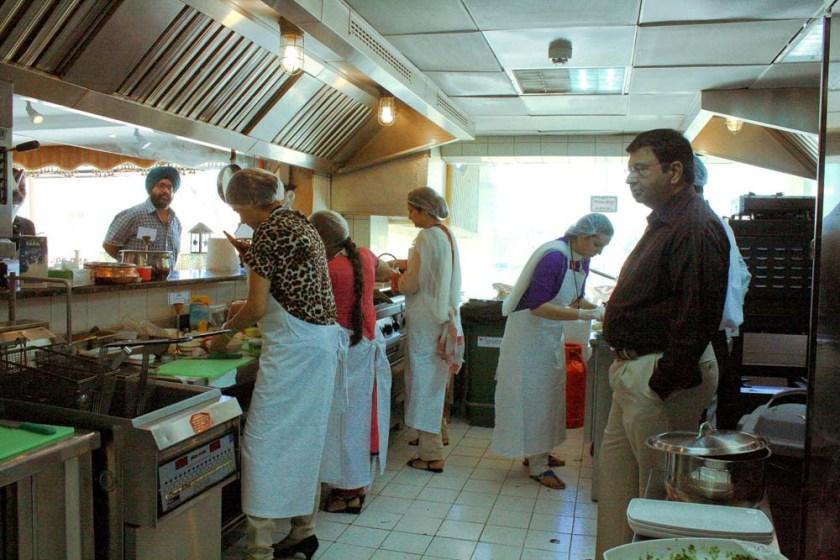 Biryani master chef Arabian courtyard