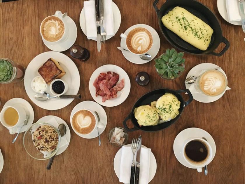 La Serre breakfast spread
