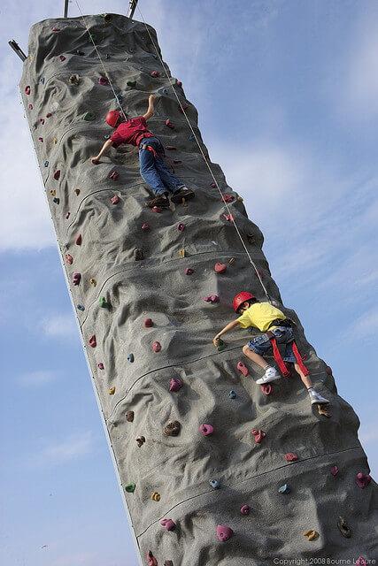 Climbing Wall at Craig Tara