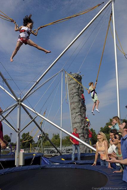 Kids' Bungee Jumping at Craig Tara